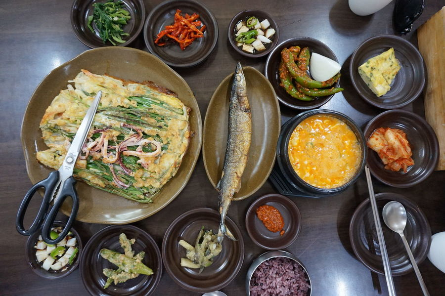 Healthy Eating Side Dish Fish Korean Food Food Stories Foodie Gyeongju Korea Korean Travel Traveling Trip Bowl Food Freshness Healthy Eating High Angle View Korea Food Plate Ready-to-eat Sony A5000 Vegetable Food Stories