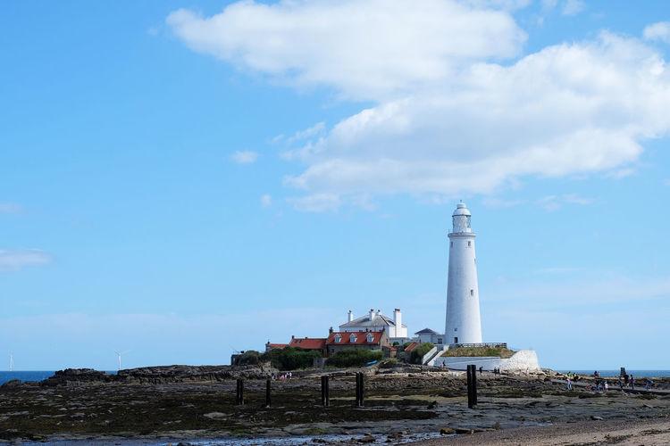 St Marys Lighthouse Cloud Coastline EyeEm Selects Holiday Lighthouse Tyne And Wear White Light House Blue Sky Backgrounds Beach Blue Sky Coast England North East England Sky St Marys Lighthouse White Whitley Bay