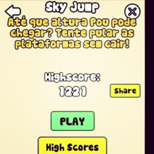 Sou muito bom nesse jogo Skyjump