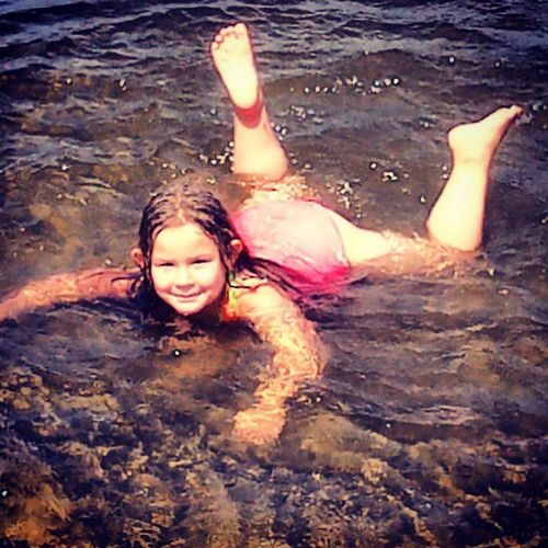 Swimming at the beach <3