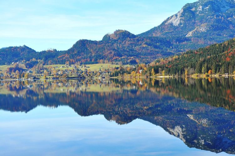 Alps Alpine Austria Salzkammergut Altaussee Mountain Reflection Lake Mountain Range Scenics Water Beauty In Nature Tranquil Scene Tranquility Nature Sky Waterfront Day Outdoors No People