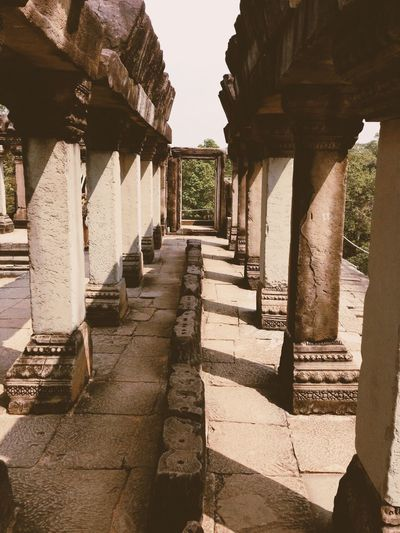 Colonnade Of Historic Temple