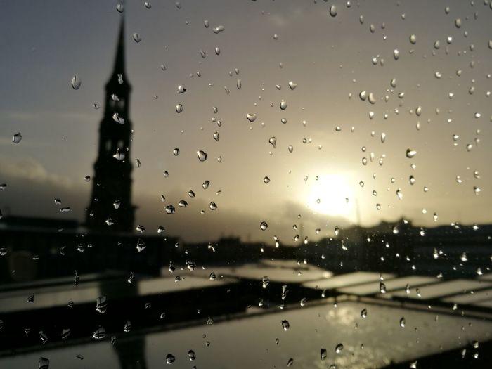Rain RainDrop Schietwedder Rain Raindrops Hamburg St Katharinen Kirche Church