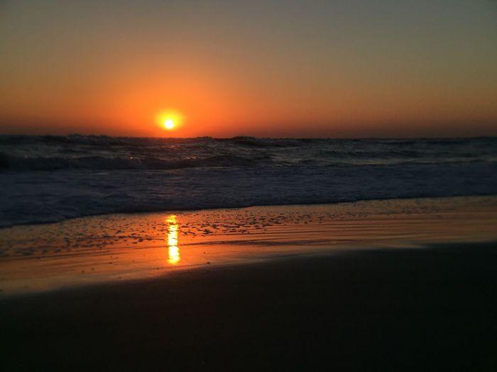 Red sky in the morn Red Sky In The Morning Red Sky Sunrise At The Beach Melbourne Beach, FL Sunrise - Dawn Colorful Sunrise Beach Low Tide