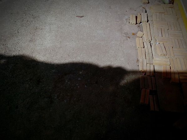 Emotions and feelings do not get caught by your eyes but by your heart.Emotions Feelings Fall Down Rise Up Light And Shadow Ground Bricks Concrete Floor