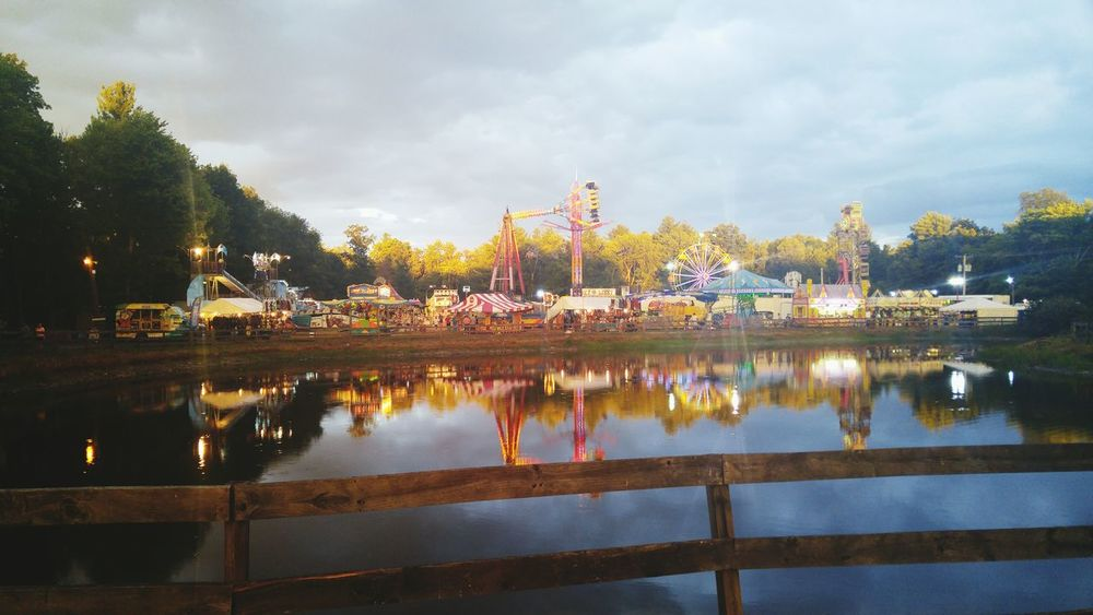 Fairground Sunset Faris Wheel Original Photography Carnival Fair