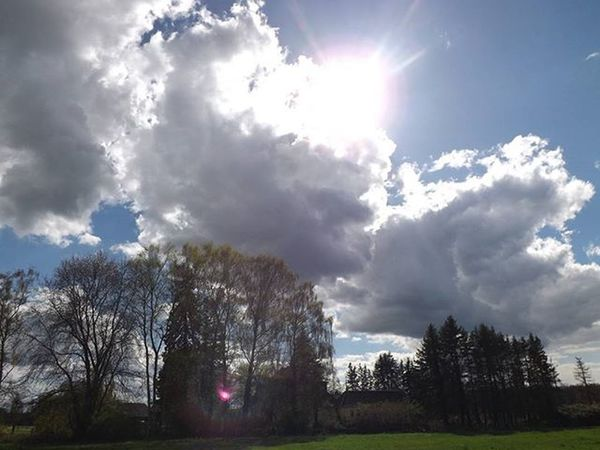Sun goes out Landscape Landscape_captures Sky Skyline Sun Cloudyday Clouds Cloud Trees Tree Bluesky Chmury Niebo Horizon Krajobraz Nature_perfection Nature Bestoftheday Słońce Inspiration Instalike Spring2016 Spring Wiosna