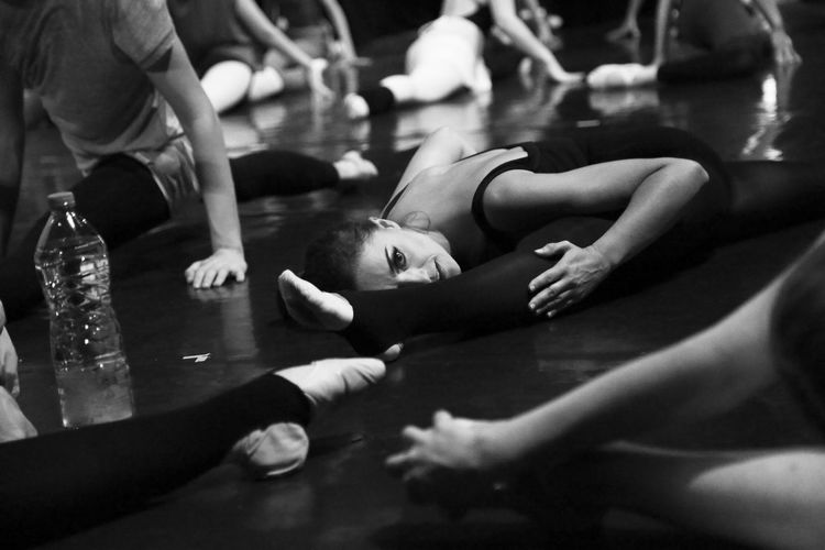 before the show Ballerina Ballet Before The Show Blackandwhite Photography Dance Dancer Part Of Personal Perspective Relaxation Stretching Unrecognizable Person Girl Power