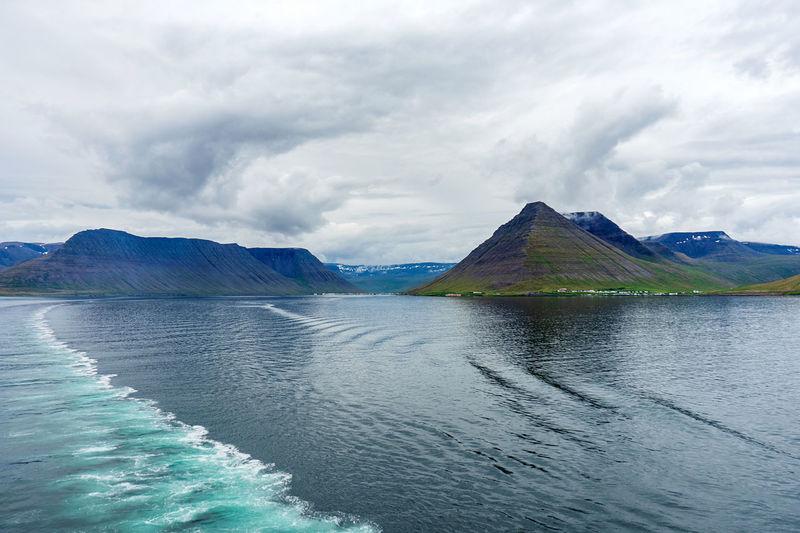 Icelandic coastline near isafjordur