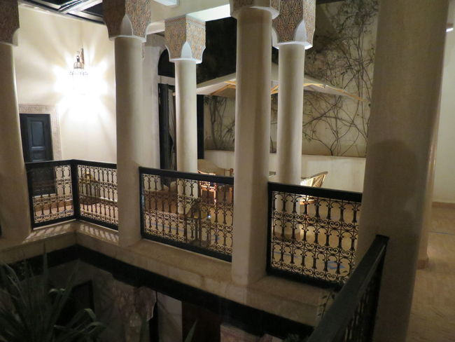 Architectural Column Architecture Atrıum Building Column Columns Courtyard  Courtyard House Historic House Internal Courtyard Light Marrakesch Quadrangle Restored Riad Staircase