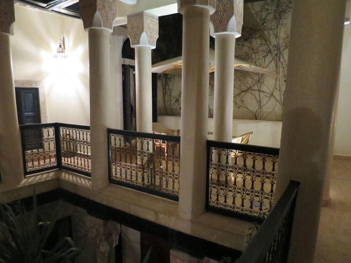 Architectural Column Architecture Atrıum Building Column Columns Courtyard  Courtyard House Historic House Internal Courtyard Light Marrakesch Quadrangle Restored Riad Staircase