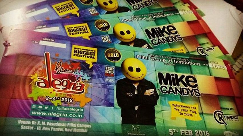 Mike Candys Tonight! Pillaisalegria Ilovealegria Festivalofjoy 0cacs Concertnight MikeCandys Firstinindia Pillite Gonnabefun Awesomepeoples International Dj Dance Edm Loud Craziness Excitement Excitedaf