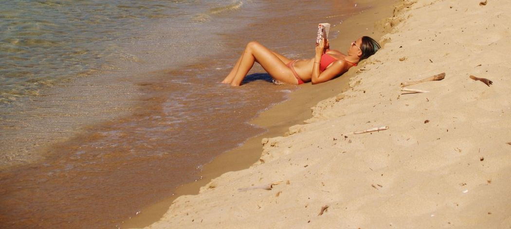 Beach Beauty In Nature Close-up Day Reading A Book Reading By The Sea Summer Summer In Greece Sunny Vacations Visit Greece Voidokoilia_beach