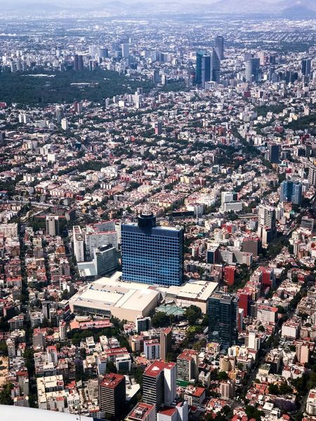 Flying High Mexico City City Cityscape Architecture Building Exterior Outdoors Aerial View No People Day Sky Skyscraper Crowded Over Populated