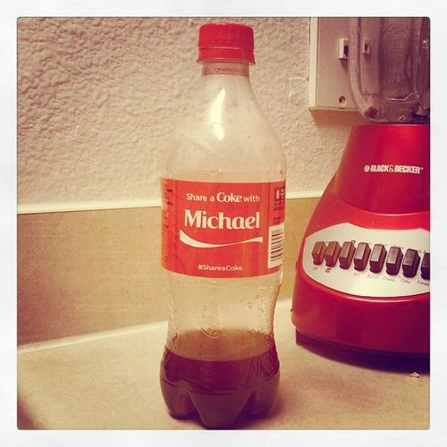 "While everyone is frantically searching for their little piece of ""Coke Heaven"", one just pops out of a vending machine at work for Michael! Lucky Canyoupleasebuyusalottoticket Wecouldberichbiotch Idneverfindone Whyismynamenotjenniferorsarahorashley Becauseidontdrinkcoke Andimunique Nosodaupinmysystem Juiceandwatergirl Imalittleinmyfeelings Itreallyiscool"