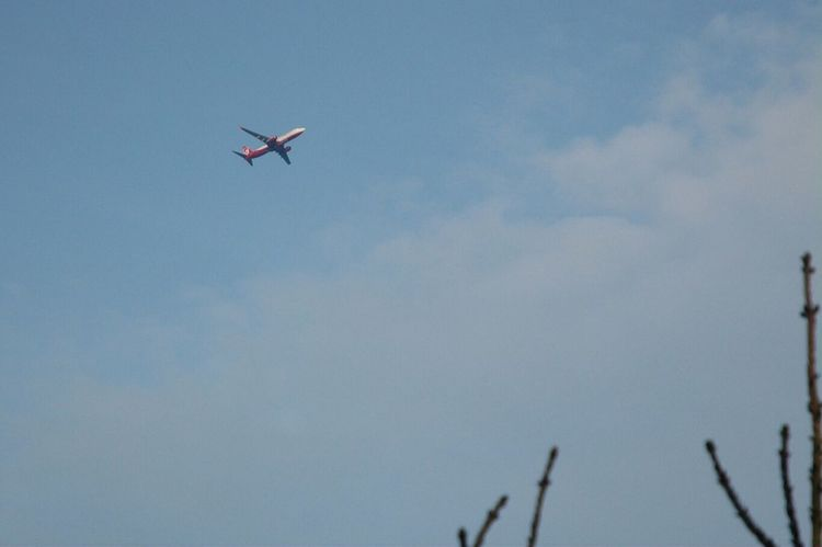 Mit Nikon D70 Plane Hello World Sky Airberlin