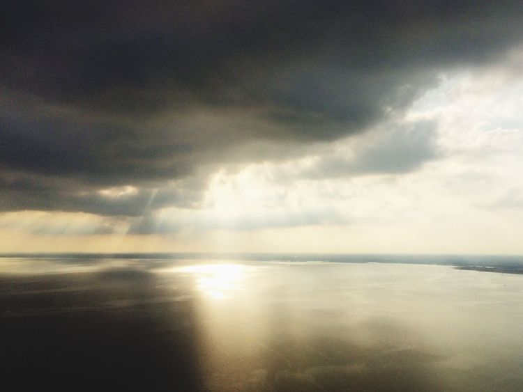 View from Airplane Tranquility Sea Sky Cloud - Sky Beauty In Nature Scenics Nature Tranquil Scene Horizon Over Water Water No People Outdoors Day
