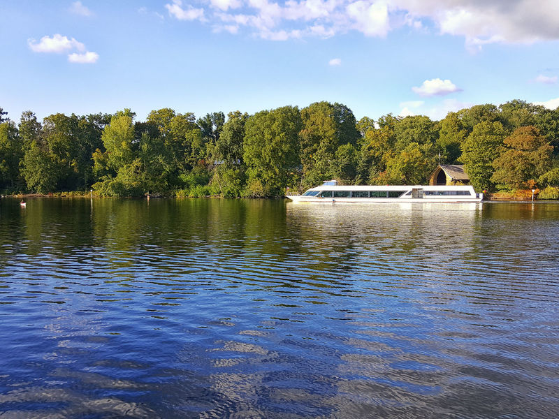 Havel river shipping Beauty In Nature Berlin Cloud - Sky Day Havel Havel River Lake Nature Nature Nautical Vessel Outdoors Pfaueninsel River Ship Shipping  Sky Trees Trees And Nature Trees And Sky Vessel Water Water Reflections Water Surface Waterfront Waterfrontview