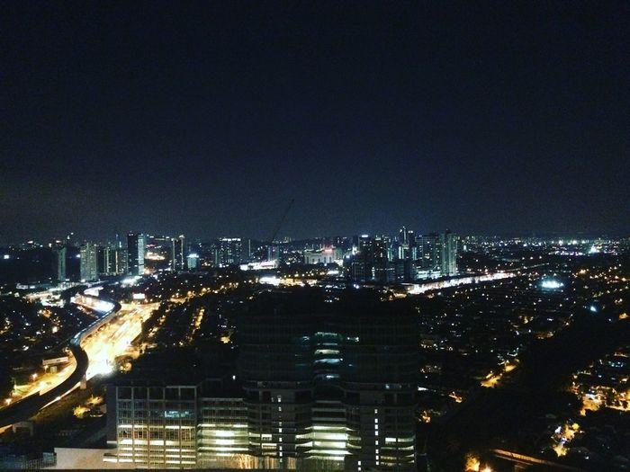 Cityneversleeps Illuminated Outdoors Sky Building Glowing City Life Light High Angle View Lighting Equipment