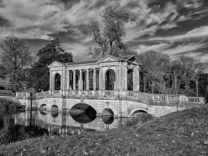 Palladin Stowe Gardens B&W (national Trust) Art In The Landscape Black & White Black & White Monochrome Bridge Buildings Gardens Historical History Monochrome National Trust 🇬🇧 Olympus Palladin Bridge Parkland Reflections Reflections In The Water Travel