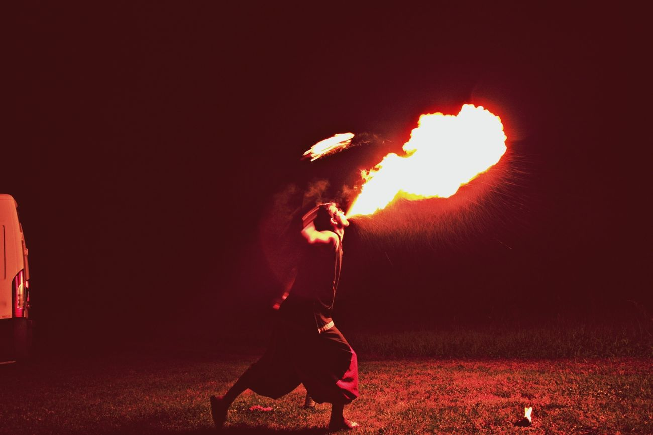 The fire-eater.