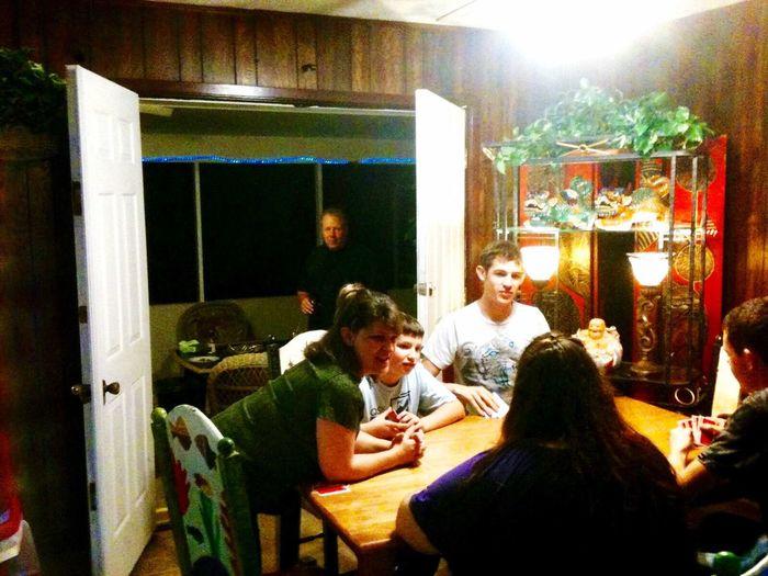People sitting in restaurant