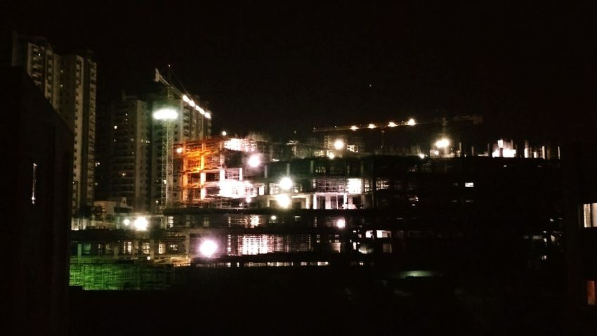 How Do We Build The World? Construction SiteNightphotography Night View Night Construction Construction Shot_on_moto_g3 in Hyderabad , India