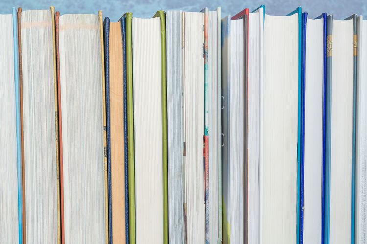 Close-up of books