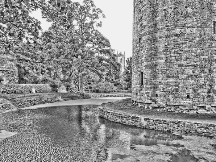 No People Day Outdoors Water Village Church Black And White Hdr  Nature Building Exterior Built Structure Architecture Clock Tower History