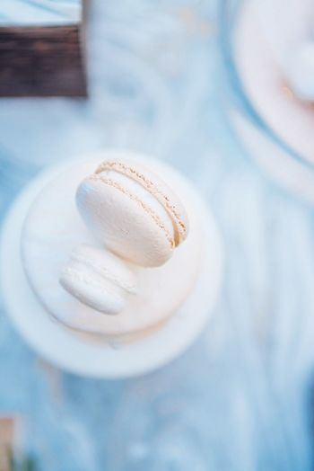 Macarons Blue Light Cream Cookie Sweet Food Food No People Close-up Dessert Food And Drink Bokeh