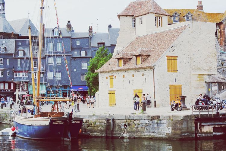 France Getting Inspired OpenEdit Honfleur Harbour Boat