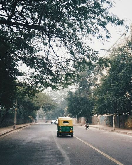 Rare lonely winter Delhi roads. VSCO Vscocam Vscoindia Vscophile Soi Solitarypixels Afadingworld Planhatke Simplicityeverywhere