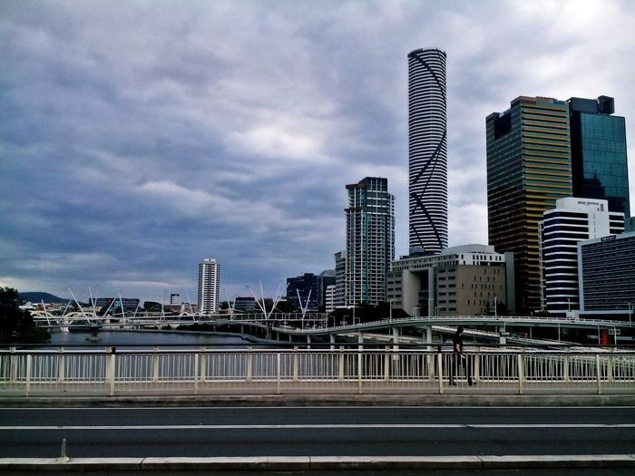 Architecture Australia Australia & Travel Brisbane Brisbane River Building Exterior Built Structure City Cloud - Sky Clouds And Sky Cloudy Day Cloudy Sky Day Inner City Modern No People On The Bridge Outdoors Sky Skyscraper Urban Skyline Adapted To The City The Street Photographer - 2017 EyeEm Awards The Architect - 2017 EyeEm Awards