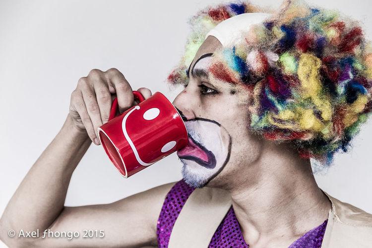 Smile Smiley Cup Of Coffee Coffee Payasos Payaso Clowns Clown The Moment - 2015 EyeEm Awards The Portraitist - 2015 EyeEm Awards