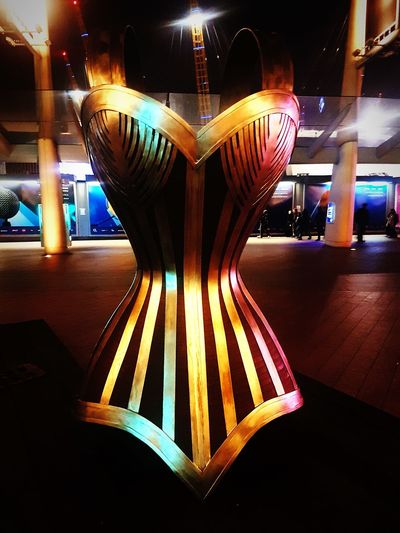 Moulin rouge sculpture Outdoor Photography Modern Intresting Place Sculpture O2 London Illuminated Indoors  Multi Colored No People Night Close-up