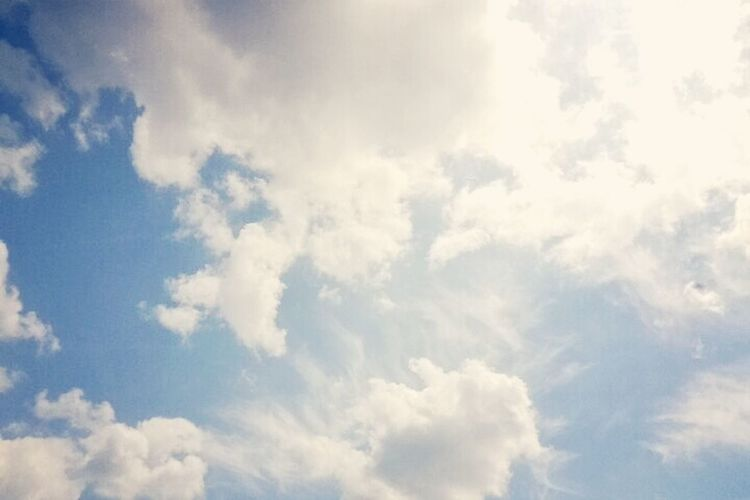 Красивото небе е над мен...