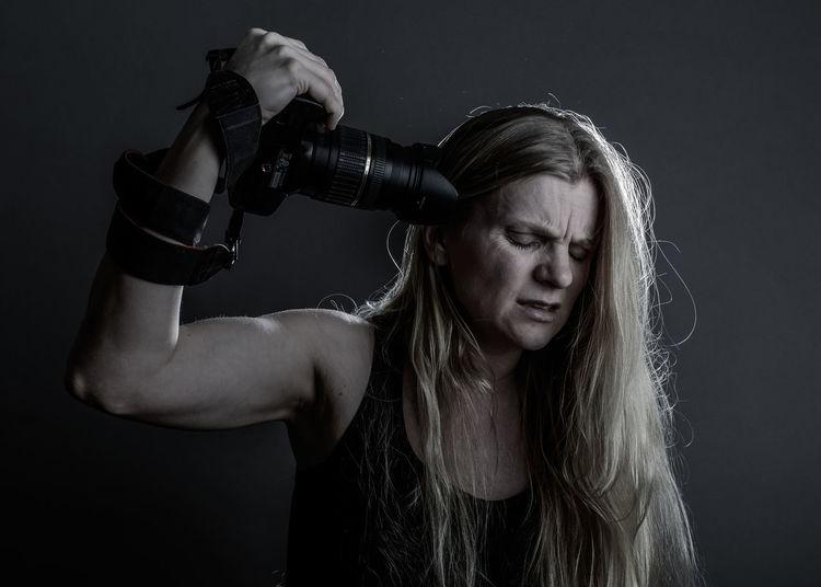 Art Canon Photographer Photoshoot Portrait Sad & Lonely Shooting Woman Woman Portrait