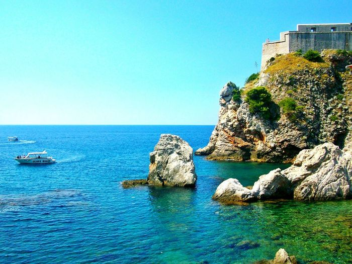 Landscape_Collection Travel Photography Typical Summer Weather Clear Water Rocks And Water Boats And Sea Adriatic Sea Nature Wonder Dubrovnik, Croatia Unesco Colour Of Life