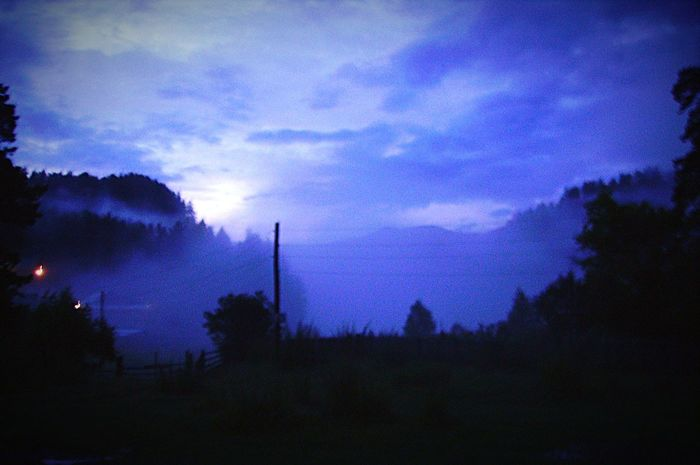 Altai Evening Mysterious Mystery Mission Mystery Fog Mountains Forest Beautiful Beautiful Nature Riddle