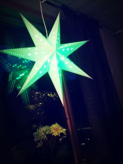 The Christmas Star for this year with Green Lightbulb