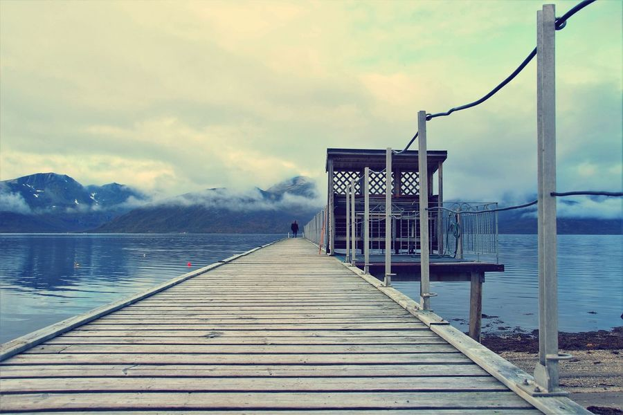 Water Pier Outdoors Sky Cloud - Sky Wood - Material Sea No People Nature Horizon Over Water Norway Wide View EyEmNewHere