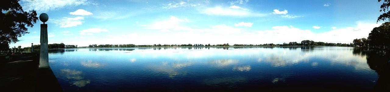 Laguna Panorámica II Water Tree Lake Blue Reflection Sky Cloud - Sky
