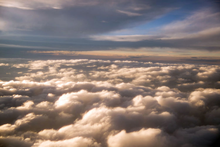 The sky view from aircraft Sky Clouds Cloud Heaven Blue Sky Sky Clouds Paradise Clouds Sky