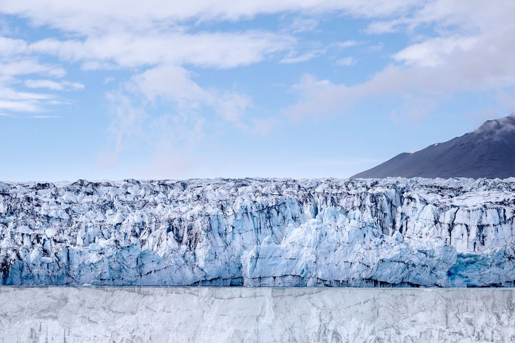 Glacier melting and calving into the ocean