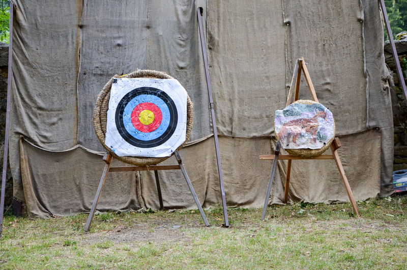 Sports Targets Against Fabric