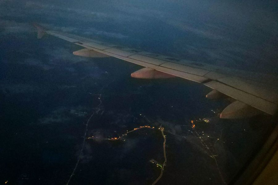 Airplane Aerial View Flying Aircraft Wing