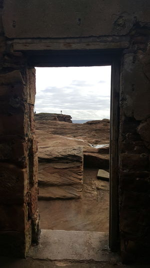 Built Structure Old Ruin Sky Day No People Door View From The Door Picture Within A Picture Wirral Hilbre Island Outdoors Tranquility Beauty In Nature
