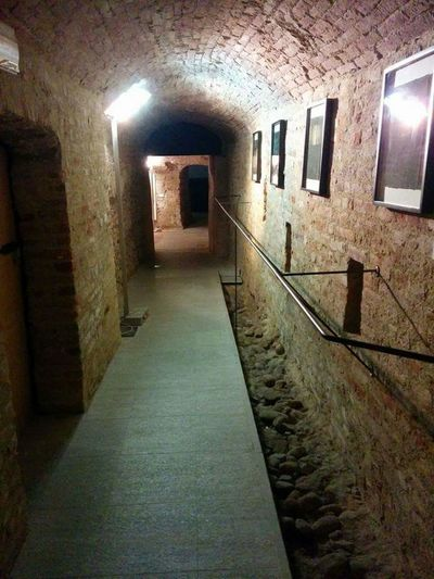 Asti Palazzo Mazzetti Il Giorno Della Memoria Exibition Corridor The Way Forward Indoors  Illuminated Empty Built Structure Architecture No People Passage Day