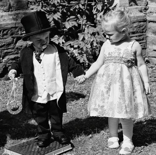 Babyboy Babygirl Wedding Photography Vintage Photo Marriage  Photo_of_the_day Blackandwhite Weddings Around The World Eye4photography  Black And White Photography Babies Toddlers  Boy Girl