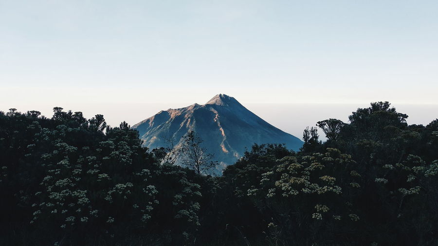 Beautiful morning from mt merbabu magelang indonesia